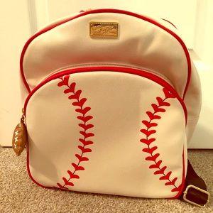 NEW Betsey Johnson Baseball Mini Backpack